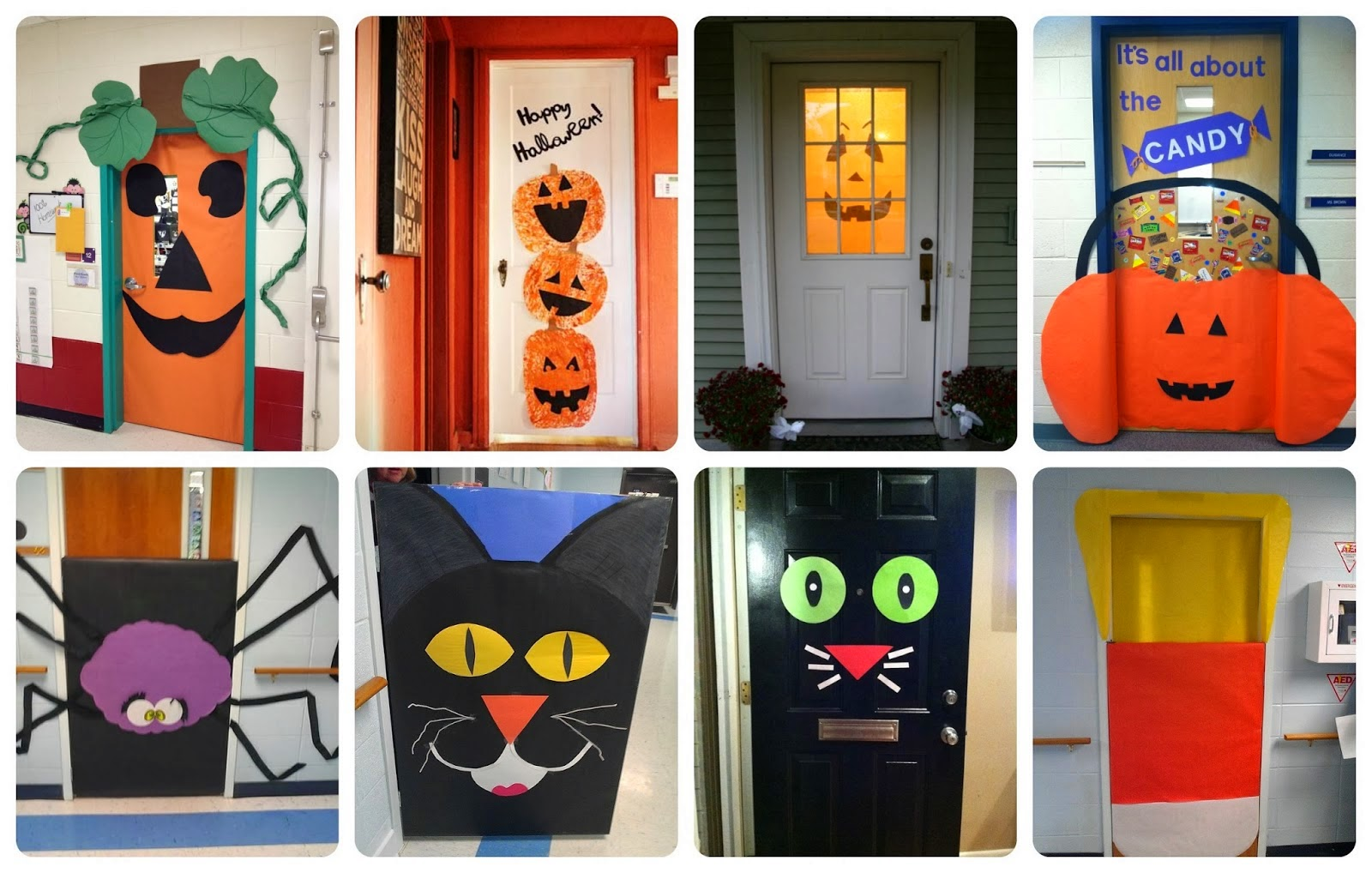El blog de espe ideas para decorar las puertas en halloween for Ideas para decorar puertas