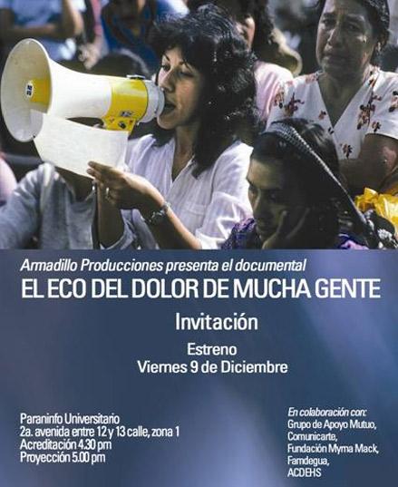 El Eco del Dolor de Mucha Gente el 9 de diciembre en el Paraninfo Universitario