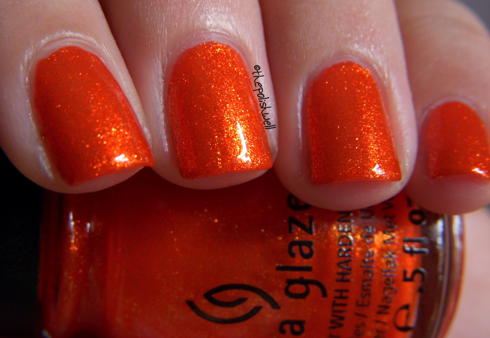 Splutters Isnt This One Insanely Gorgeous Polish Bright Red Orange With Even Brighter Gold Glass Flecks That Gives The Color Incredible Depth