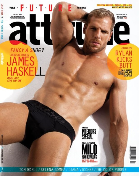 James Haskell Attitude Magazine July 2013 Cover