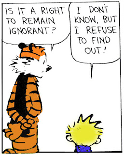 Est-il un droit à rester dans l'ignorance?  je refuse de le savoir......
