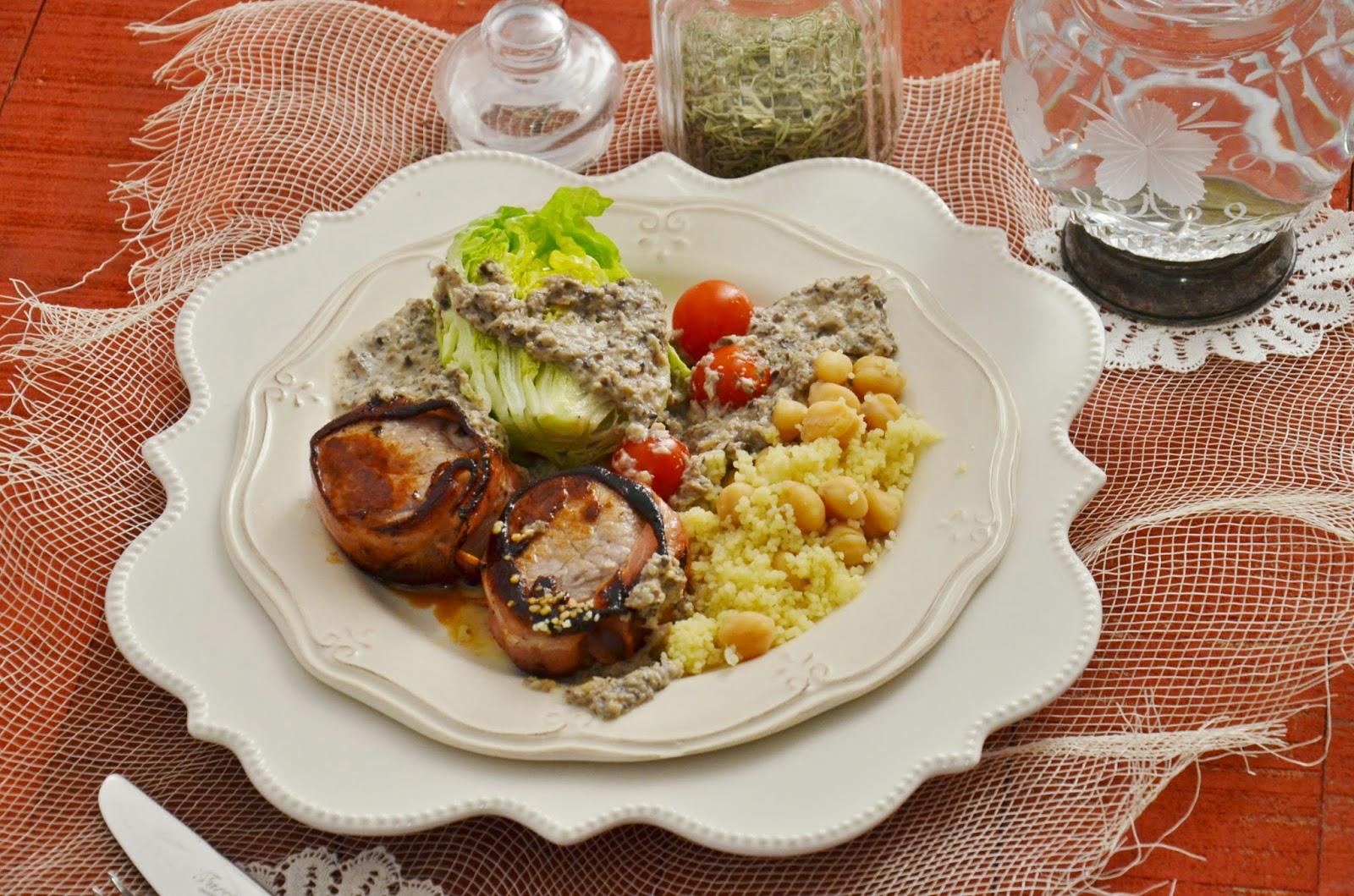 Solomillo de cerdo con salsa de champi ones cuchillito for Salsa para solomillo