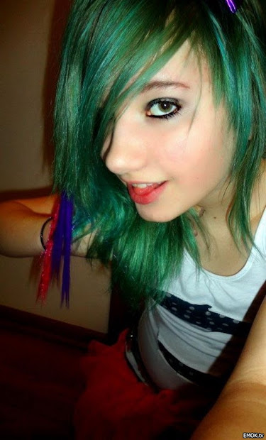 blue emo hair medium haircuts