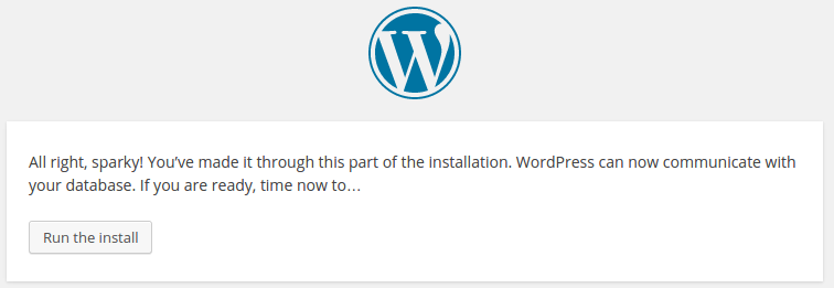 instal wordpress step 3