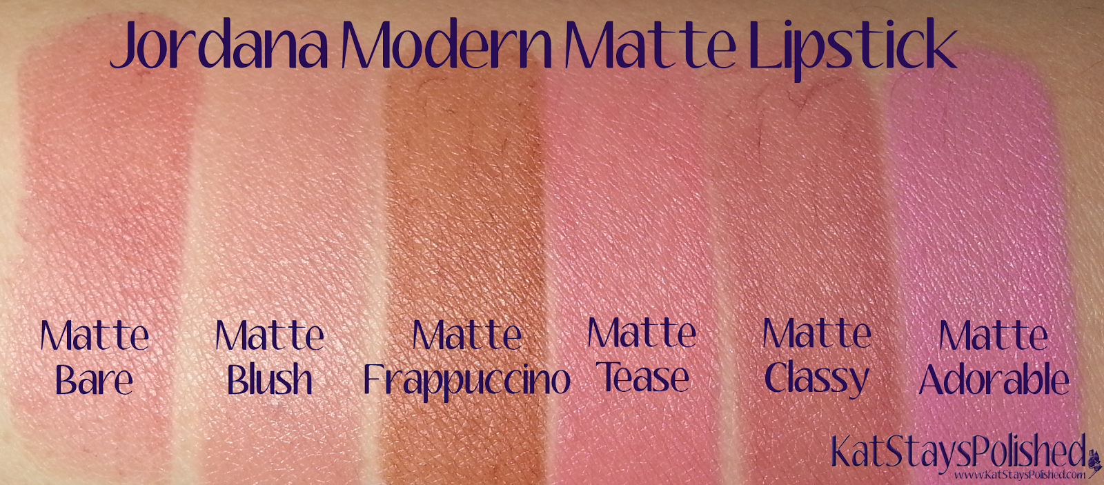 Jordana Modern Matte Lipstick | Kat Stays Polished