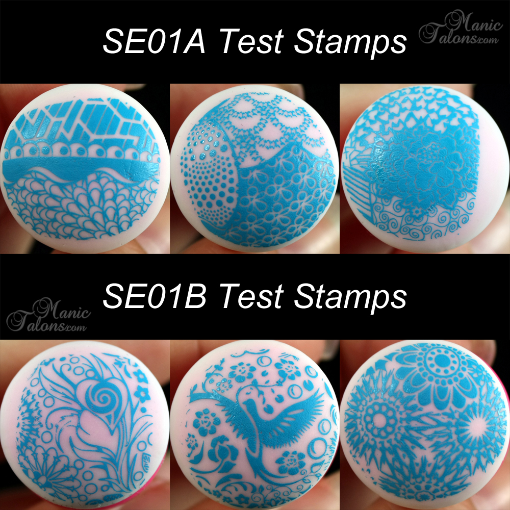 Pueen SE01 A and B Test Stamps
