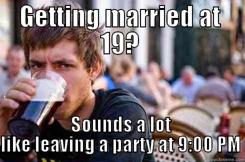 Funny Memes Marriage : The young and the married: when is it ok to leave the party early?