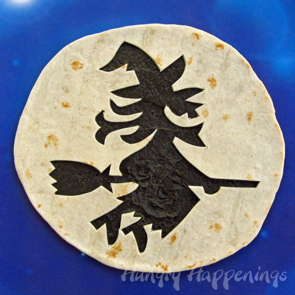 Halloween Witch Themed Quesadilla