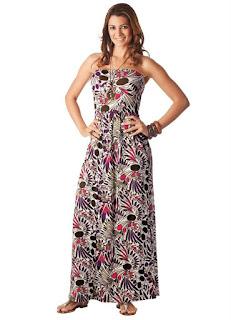 modelo de vestido longo estampado para o dia - fotos e dicas