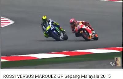 Video Rossi VS Marquez di Sepang 2015
