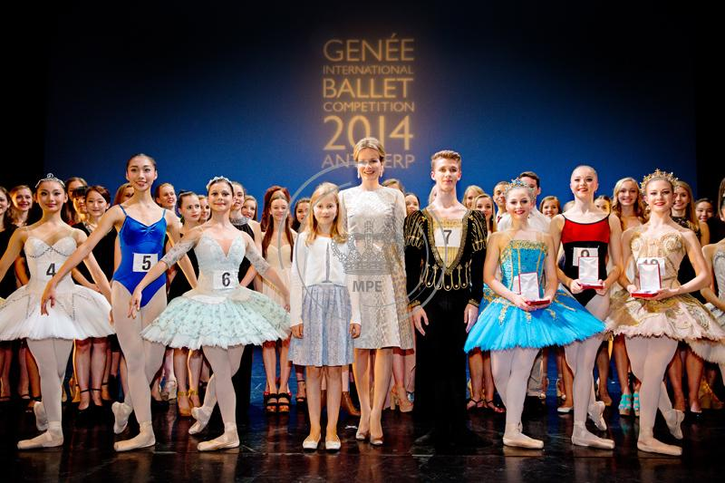 Queen Mathilde with her daughter (Crown)Princess Elisabeth at the Genee International Ballet Competition in Antwerp
