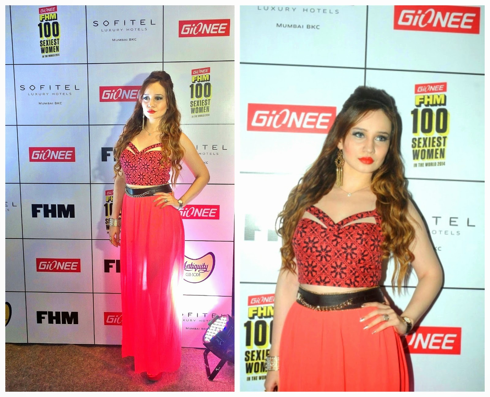 Stephanie Timmins at Gionee FHM Sexiest 100
