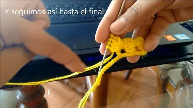 Puntada de Crochet Paso 6