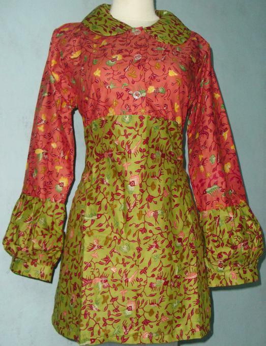 Blus Wulan + Ndari (90.000) Batik kombinasi dua warna Cantik