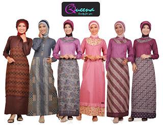 Model Baju Muslim Batik Modern  Terbaru 2011