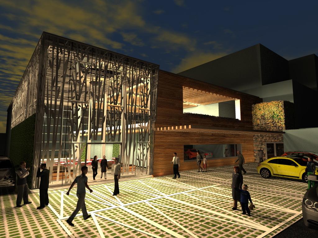 Arquitectura y dise o plaza lomas verdes for Muros verdes arquitectura
