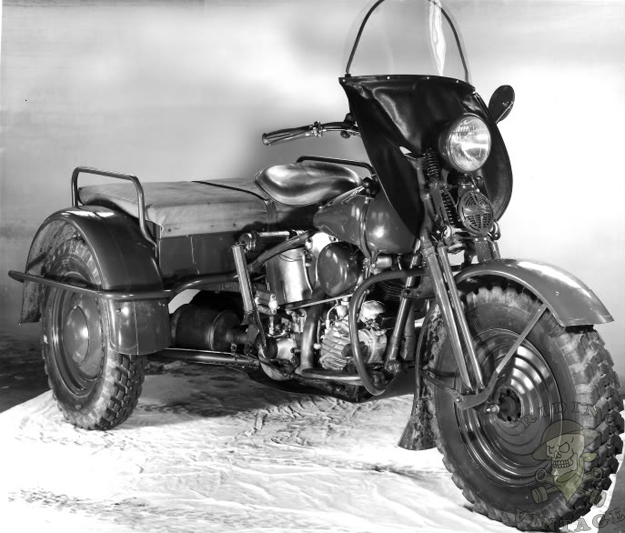 Riding Vintage Harley Knucklehead