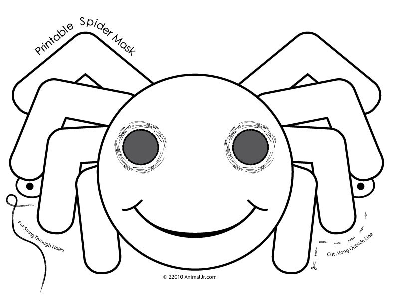 mask halloween coloring pages - photo#12