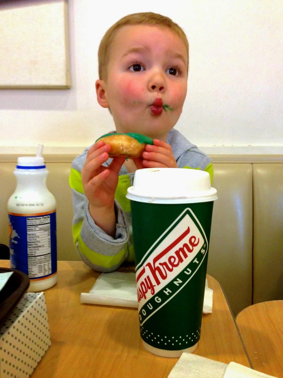 A visit to Krispy Kreme