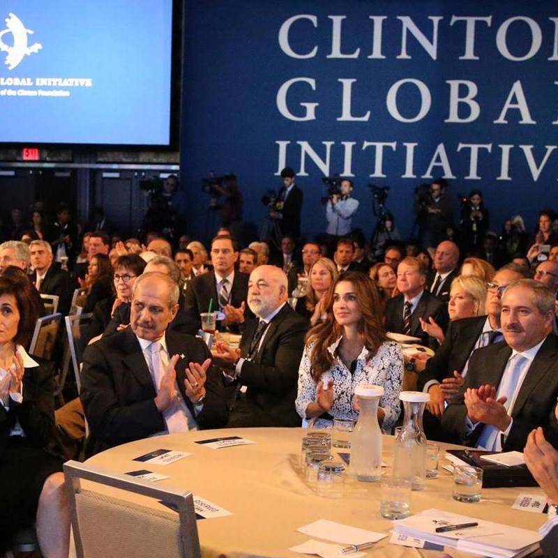 Queen Rania and King Al-Abdullah participate in Clinton Global Initiative meeting