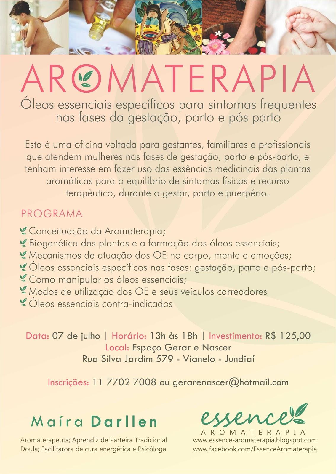 curso de aromaterapia para gestação, parto e pós parto espaçocurso de aromaterapia para gestação, parto e pós parto