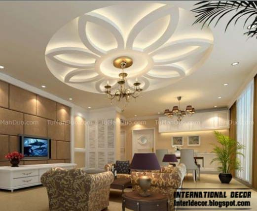 false ceiling modern design interior living room - Blogspot Interior Design