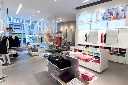 Lacoste shop interior