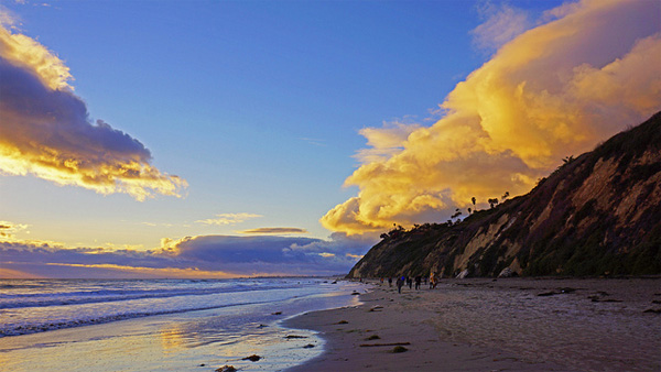 Beautiful Beach at the California Coast