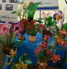 Marili-Flores a partir de garrafas pets
