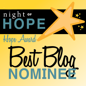 Hope Award Blog Nominee 2016