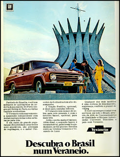 Veraneio, Chevrolet, GM,  brazilian advertising cars in the 70. os anos 70. história da década de 70; Brazil in the 70s. propaganda carros anos 70. Oswaldo Hernandez;