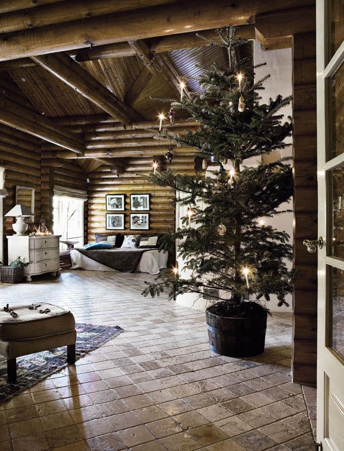 Rustik chateaux decoraci n de una casa rustica en navidad for Decoracion de casas rusticas