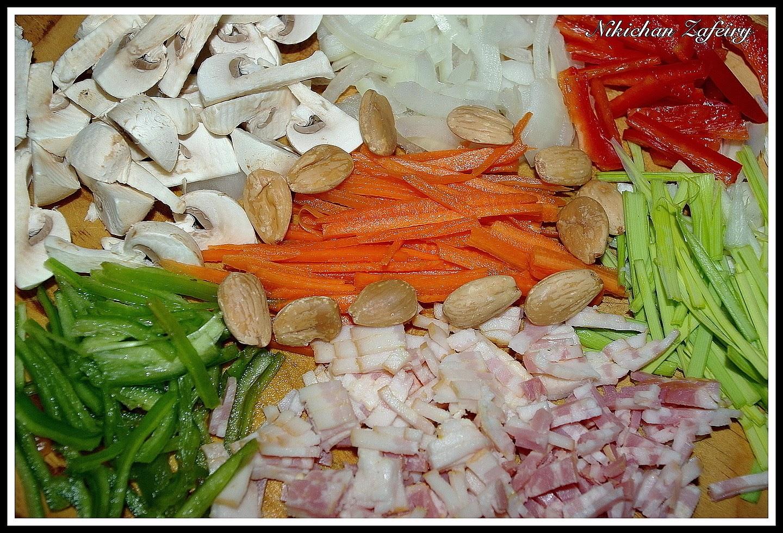 Fideos de arroz con verduras y beicon recetas de una for Cocinar fideos de arroz
