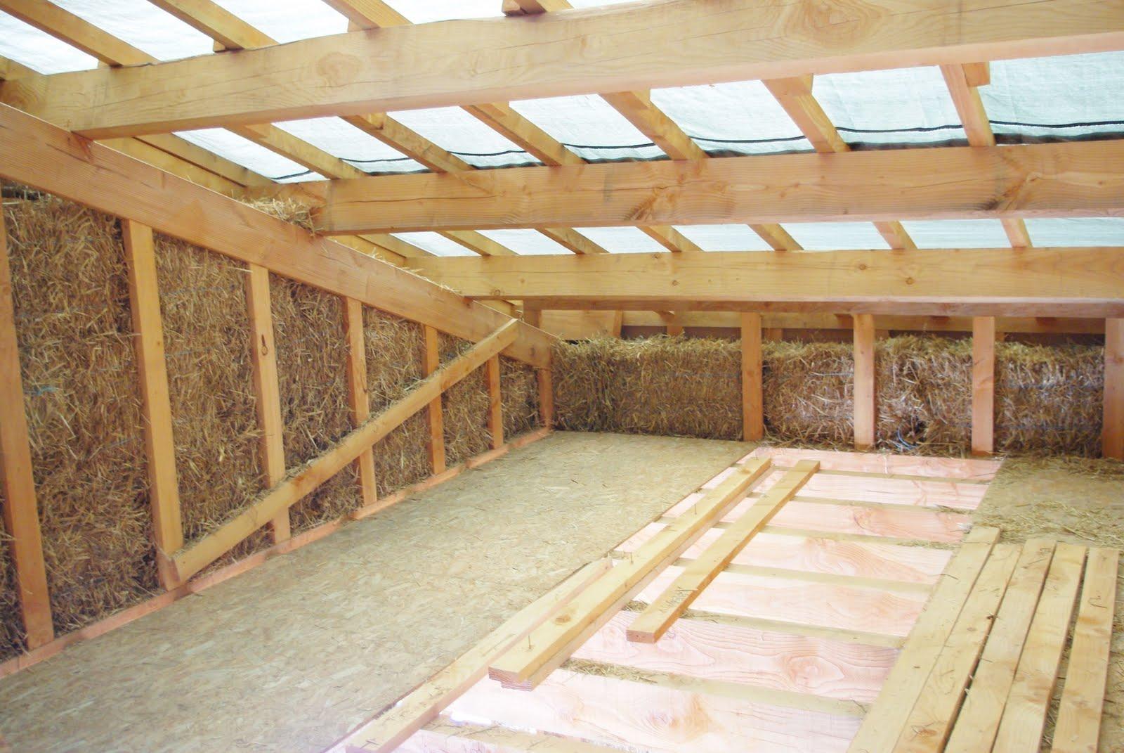 Notre maison ossature bois isolation paille  Mise en place de la paille # Ossature Bois Isolation