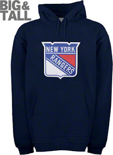 Big and Tall New York Rangers Logo Hooded Sweatshirt