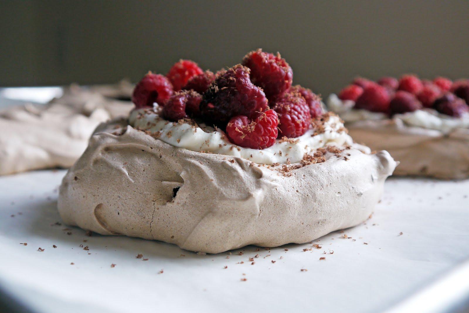 The Casual Baker: Chocolate raspberry pavlova