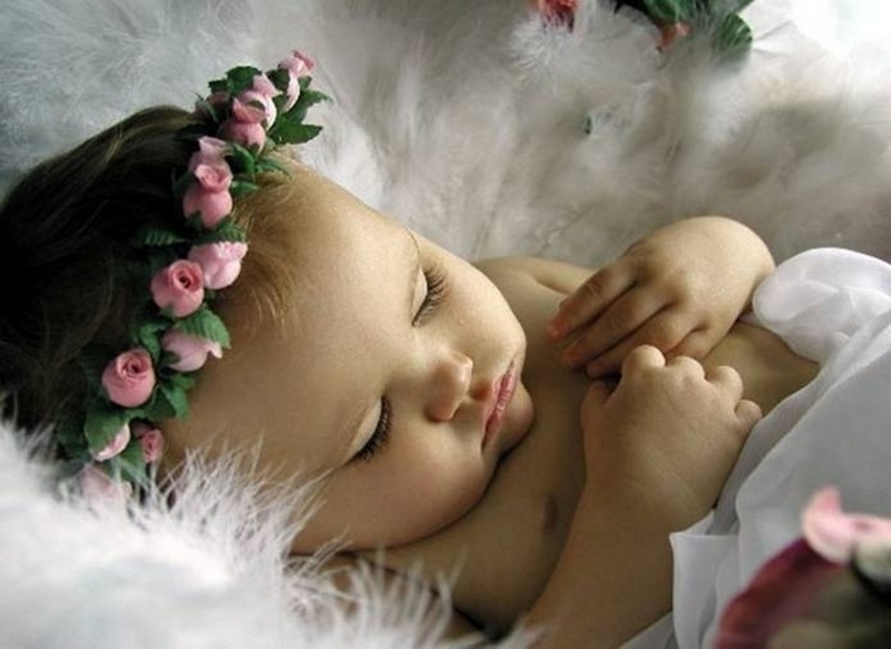 Sleeping Cute Baby Angel Background Wallpapers Angel Background