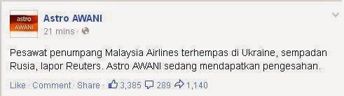 PESAWAT MAS MH17 TERHEMPAS DI UKRAINE