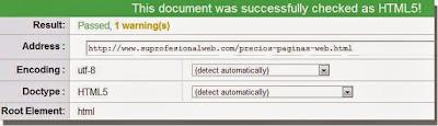 Resultado análisis HTML