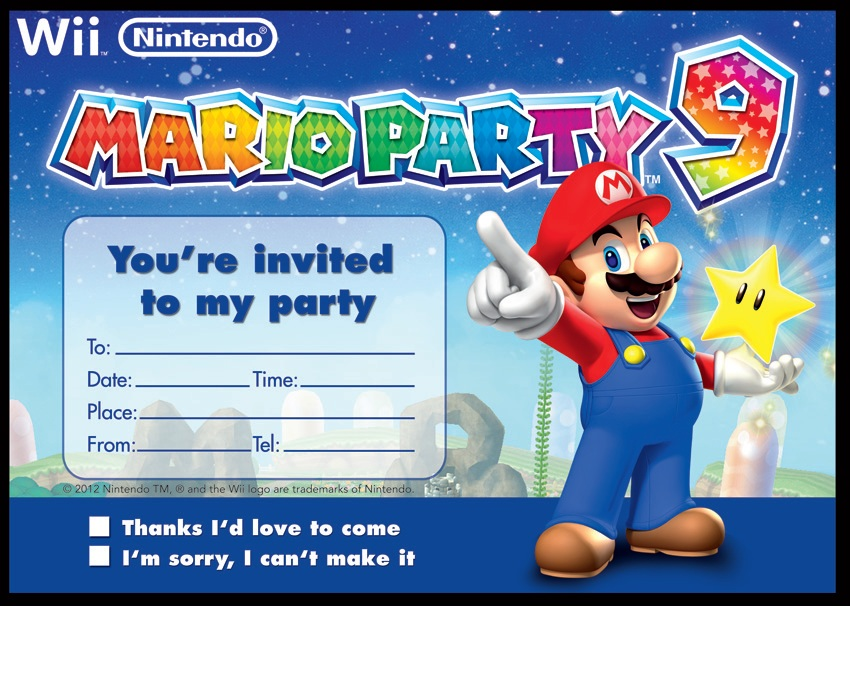Mario Party Invitations | purplemoon.co