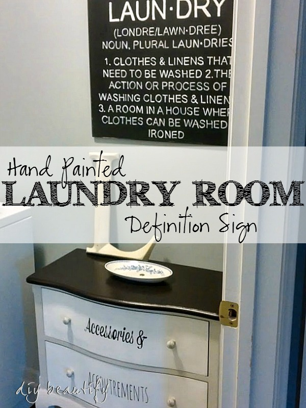 Hand Painted Laundry Room Definition Sign DIY Beautify - Laundry room signs