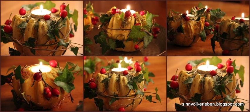sinnvoll erleben  sinnvoller leben Herbstlicher Tischkranz