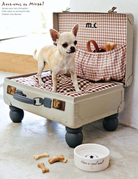 Home and Garden: Des lits en valises recyclees pour nos amis les animaux