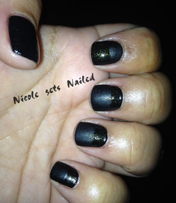 Matte Black Holo Nails