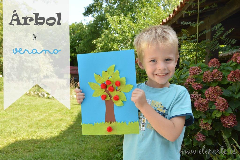 Manualidades niños: Árbol de verano
