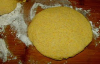 Chinese corn flour dough