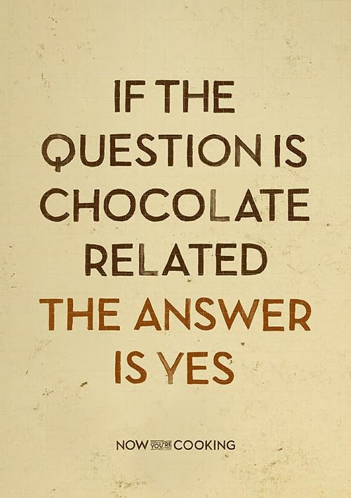 if question is chocolate related the answer is yes