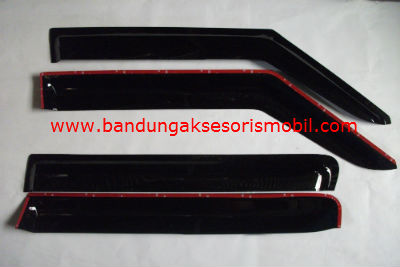 Talang Air New Swift / All New Swift Mugen Hitam 3M Depan Belakang