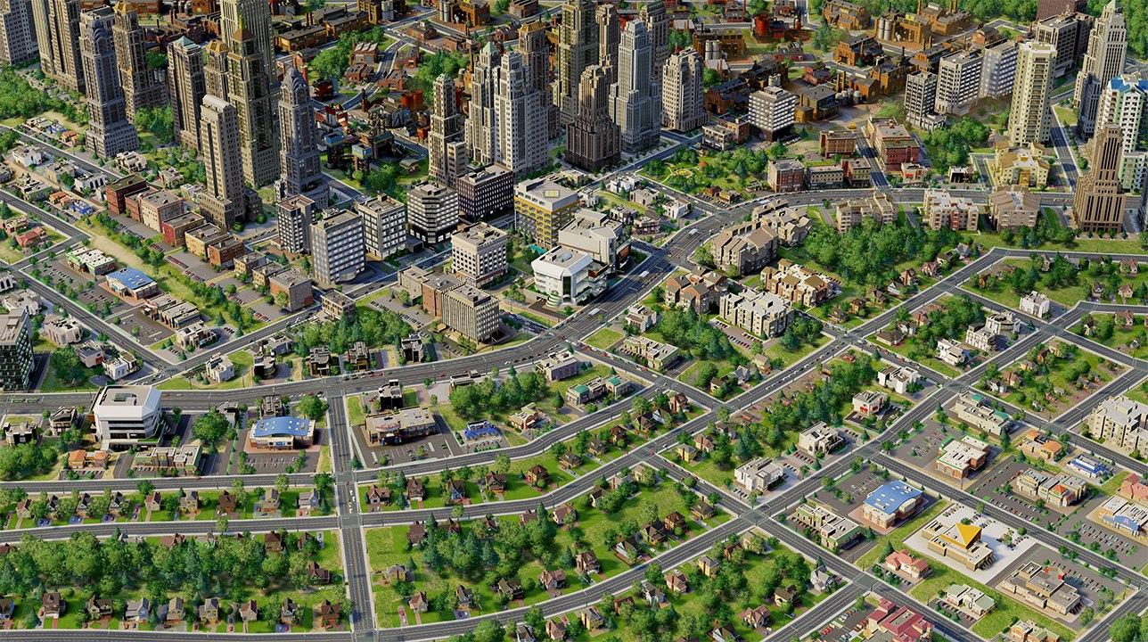 Пригород в игре SimCity 2013 - скриншот