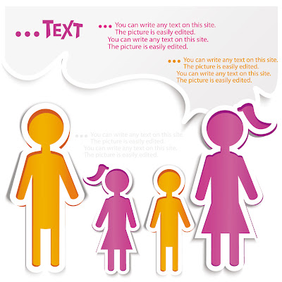 Two Girl, Two Boy, Text Sticker.eps